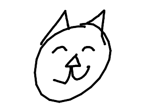 random bad cat drawi